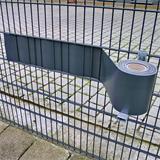 Stabiles Metall mit Zapfen und Haken für Sichtschutzstreifen