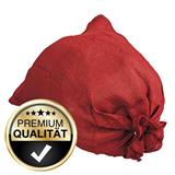 Unsere Jutesäcke bekommen Sie auch bereits rot eingefärbt.