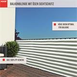 Sattes grün und weiß für einen stilvoll schönen Balkonsichtschutz
