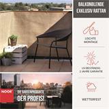 Attraktiver Windschutz und Sichtschutz für Balkon in Rattanoptik