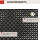 Der Sichtschutz Rattan ist in bronze und kupfer erhältlich