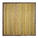 Bambuszaun mit Holzrahmen Sichtschutz Bambus Zaun