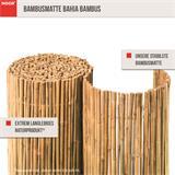 Die Matte besteht aus echtem stabilem Bambus