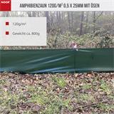 Amphibienzaun 120 g/m2, 0,5 x 25 m grün B-Ware