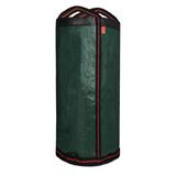 Der 125 Liter Gartensack Laubsack grün mit stabilen Henkeln.