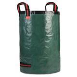 Großer grüner Gartensack aus stabilem PE/PP Gewebe für Gartenabfälle.