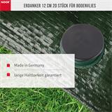 Erdanker Bodenanker für Bodenvlies 12 cm 20 Stück