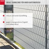Sichtschutzstreifen PVC Zaunblende 0,19x35 m Zaun