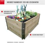 Hochbeet Rahmen DIY 120 x 80 x 20 cm natur