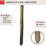 Zaunpfahl D ca. 8-10cm,  L150cm, geschält