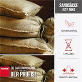 Jutesäcke sind aus 100% Naturfaser hergestellt.