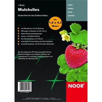 Mulchvlies für Erdbeeren 1,6x4,2 m Vlies Unkraut
