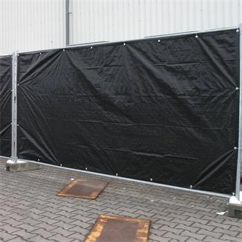 Bauzaunplane Profi 1,76x3,41 m schwarz Plane Zaun
