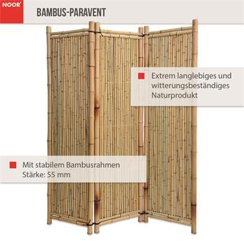 2.Wahl Bambus-Paravent Deluxe