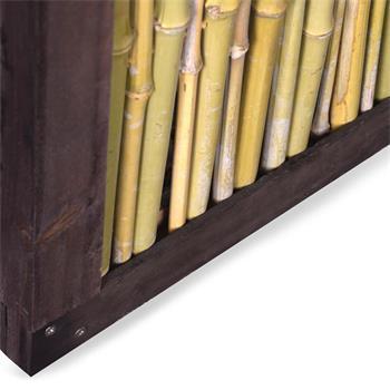Bambuszaun Bangkok mit Holzrahmen Bambus Zaun