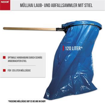 Müllhai Laub- und Abfallsammler mit Stiel