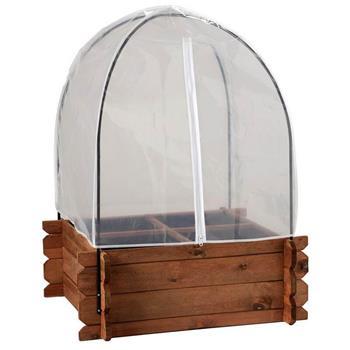 Frühbeethaube & Vogelschutznetz für Hochbeet S