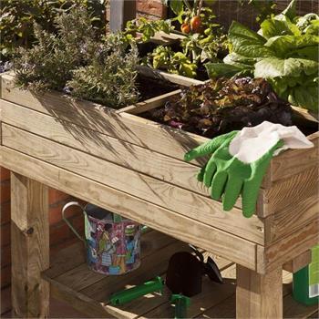 Hochbeet Nizza 60x80x80cm Frühbeet Tisch Holz