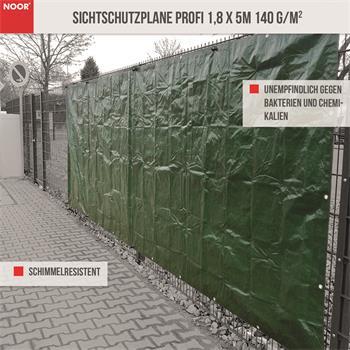 Sichtschutzplane Profi 1,8x5m 140 g/m² Sichtschutz