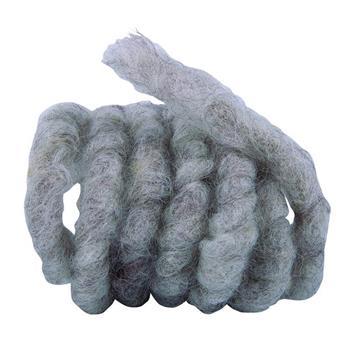 Wollkordel aus Schafwolle 3m Ø 1 cm grau/braun