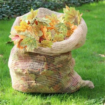Laubsäcke Jute 70 x 100 cm 3 Stück kompostierbar