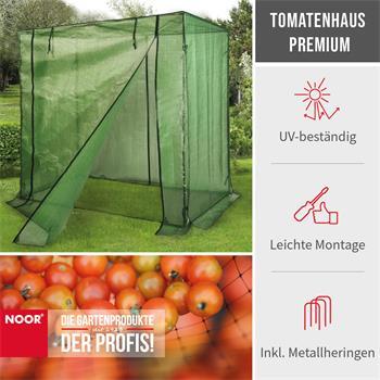 Tomatenhaus Premium 200x75x175cm UV-Gitterfolie