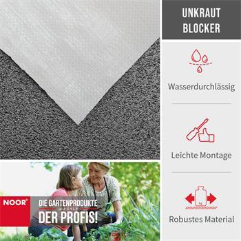 Unkrautfolie Unkrautblocker weiß 105 g/m² 0,9x10m
