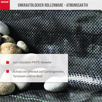 Unkrautblocker Profirolle Schwarz 100% PP