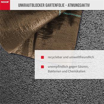 Unkrautblocker für Rindenmulch braun 0,9x10m