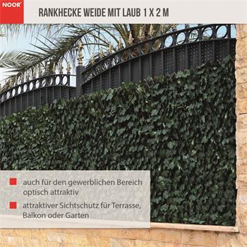 Rankhecke Weide mit Laub Laubhecke Spalier 1x2 m