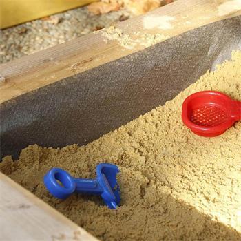 Sandkastenvlies 2x2 m grau Vlies für Sandkasten