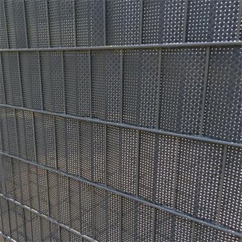 Sichtschutzstreifen 0,19x2,55 m Rattan anthrazit