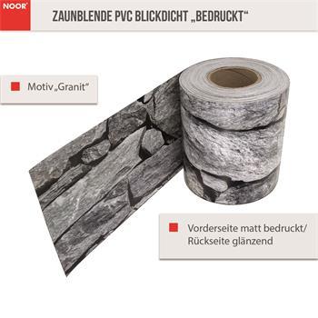 Sichtschutzstreifen Granit 19cm x 35m 630gr/m
