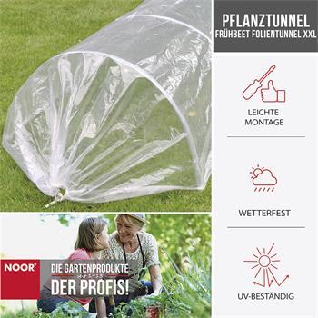 Pflanztunnel Frühbeet Folientunnel Garten XXL