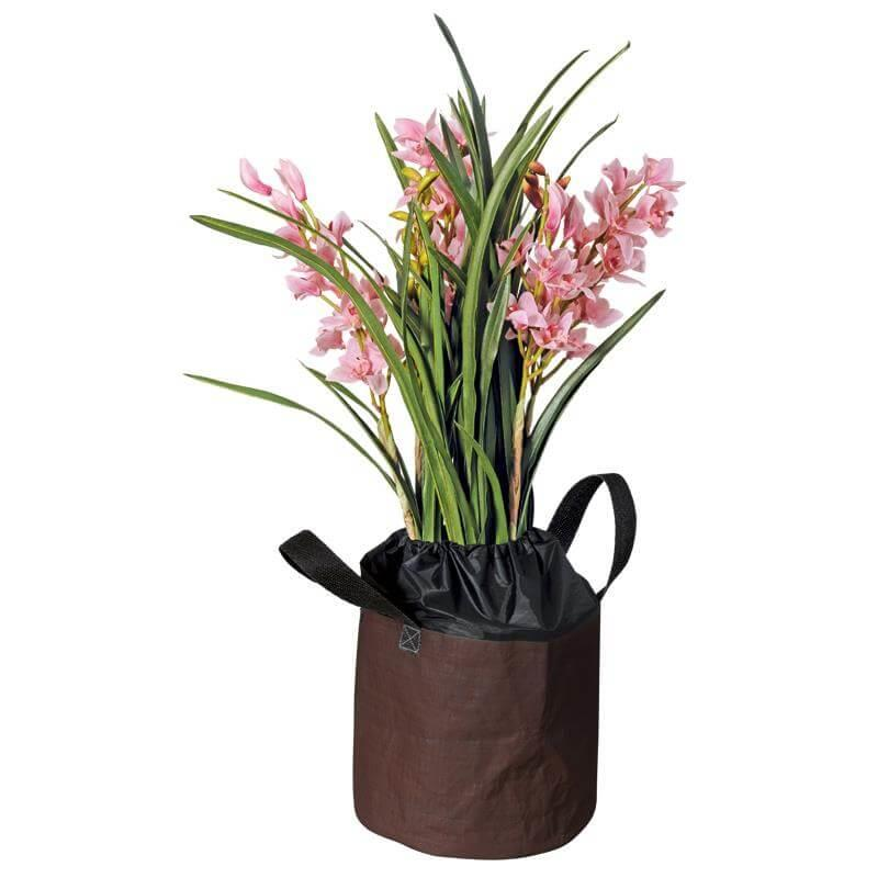 Der Frostschutzsack für Topfpflanzen mit Tragegriffen