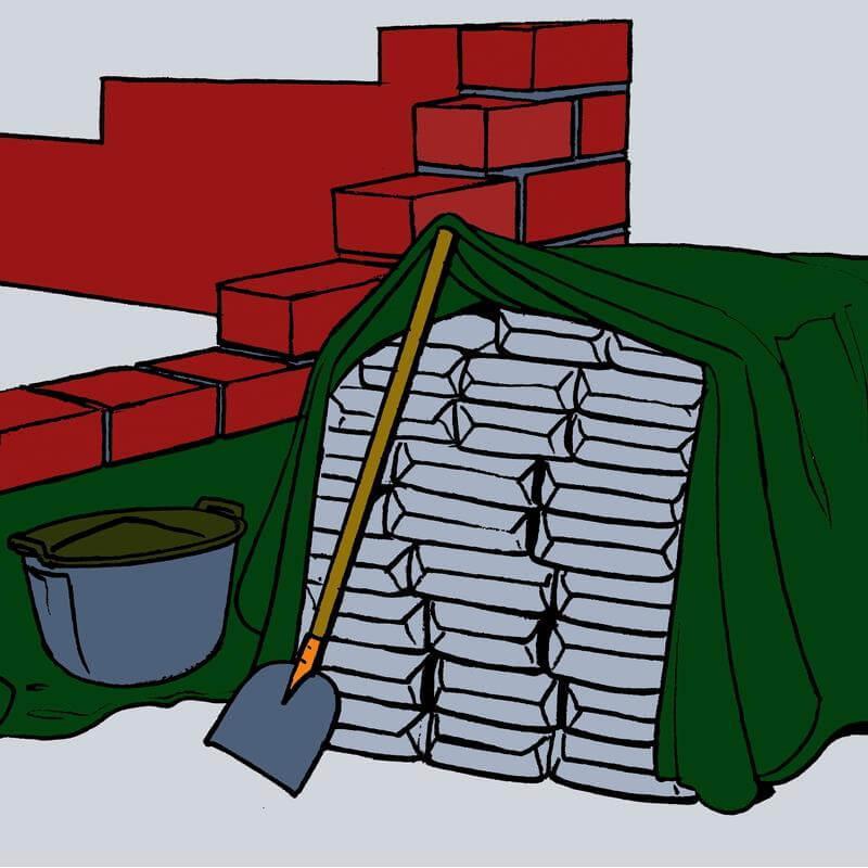 Nutzen Sie die besonders strapazierfähige Abdeckplane auf Baustellen und für empfindliche Güter.