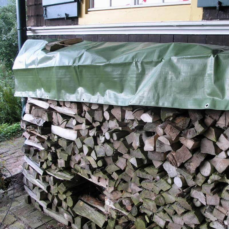 Extra starke Gewebeplane für Holzabdeckungen