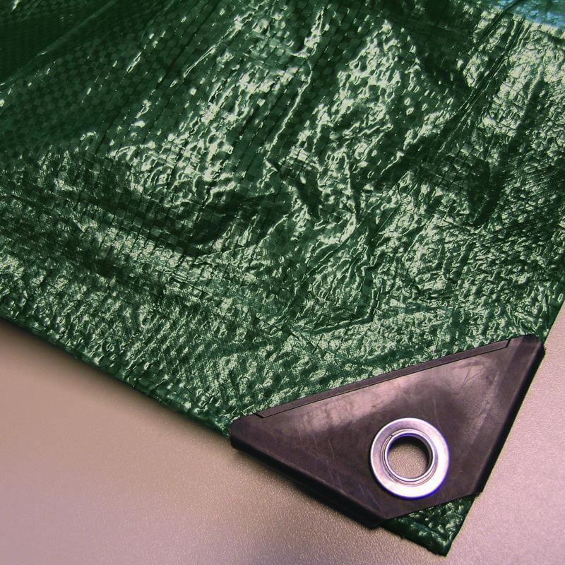 Unsere grüne Abdeckplane Easy mit 90 Gramm pro Quadratmeter