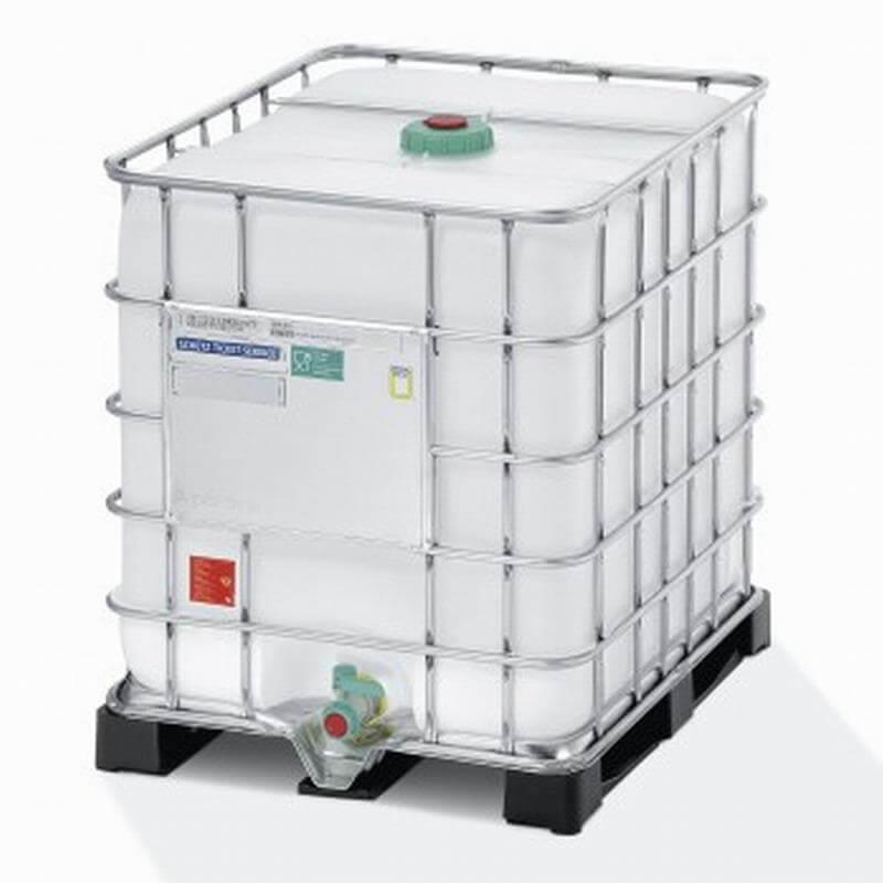 Dieser Regenwassertank IBC Container mit 1000 Litern Fassungsvermögen bietet viele Anwendungsmöglichkeiten.