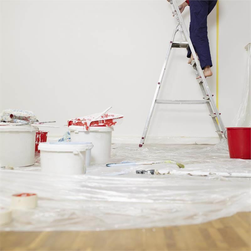 Diese Abdeckfolie in zwei Größen aus HDPE ist für Maler geeignet