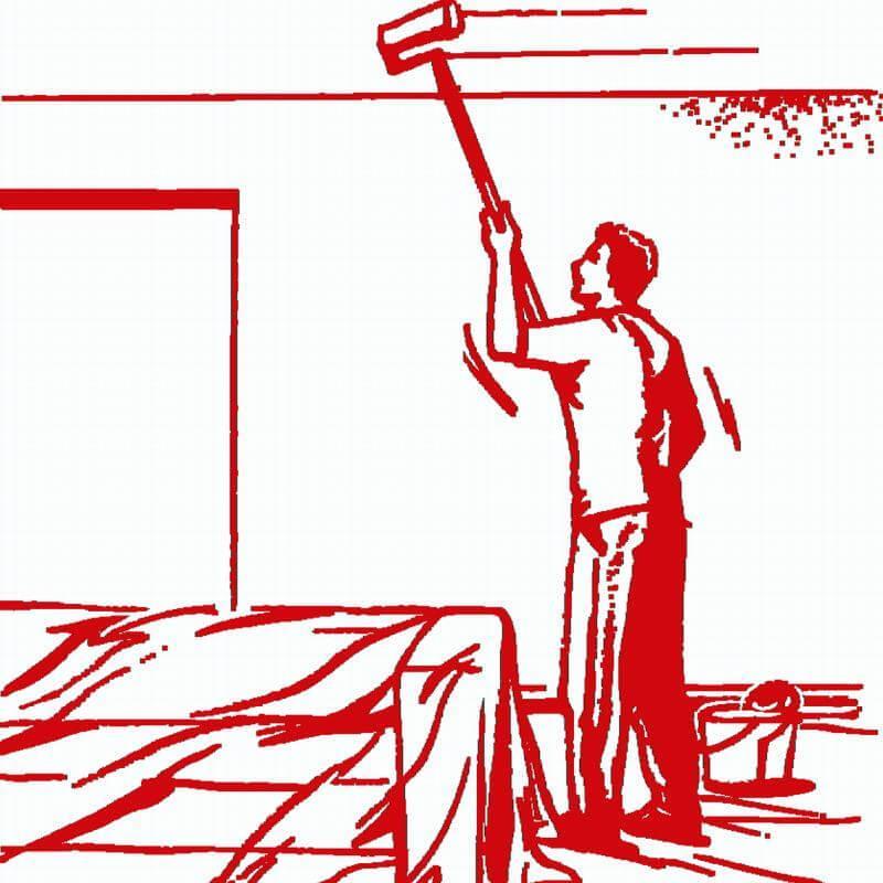 Die Handwerkerfolie ist sehr gut für Innenräume
