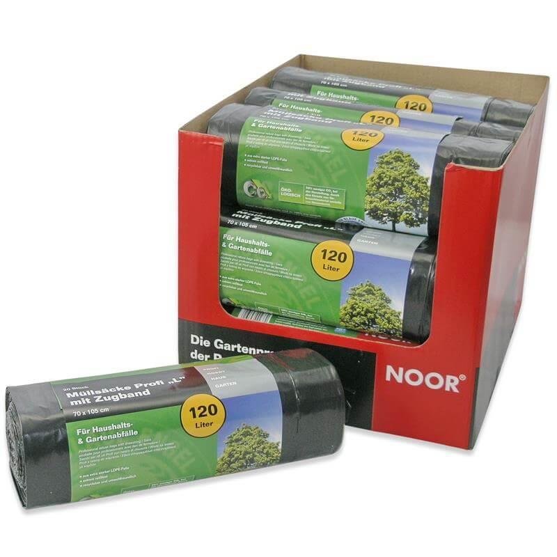 schwarze Haushaltsmüllsäcke für Küchenabfalleimer mit 120 Litern