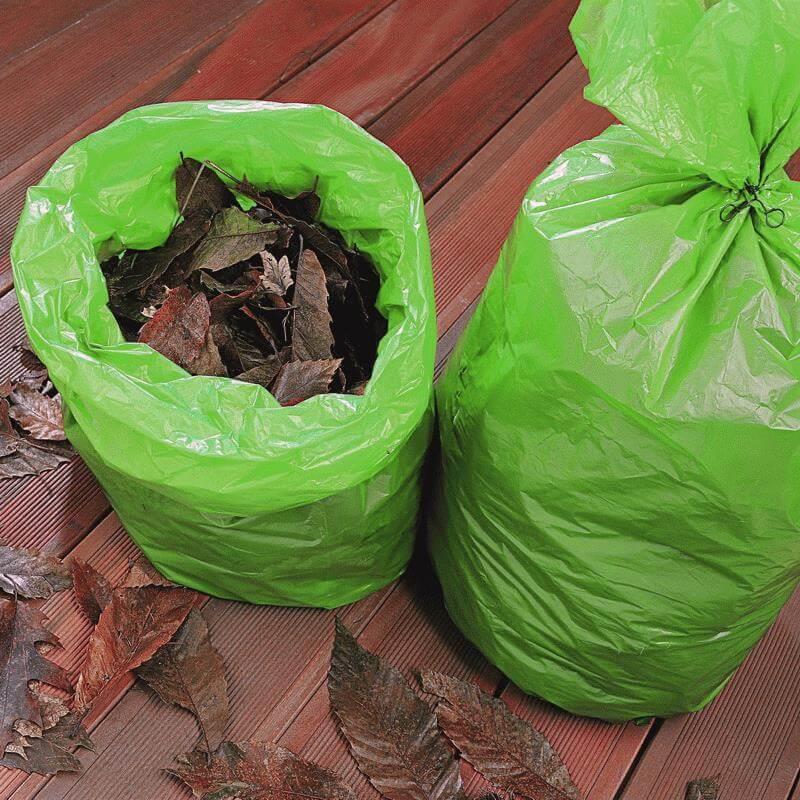 Die Gartenmüllsäcke 210 Liter sind extra groß für große Mengen an Laubabfällen.