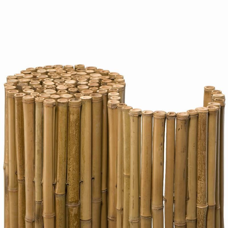 Die schöne Bambusmatte Deluxe ist genial als Sichtschutz, als Stammschutz oder auch als Lärm- und Windschutz.