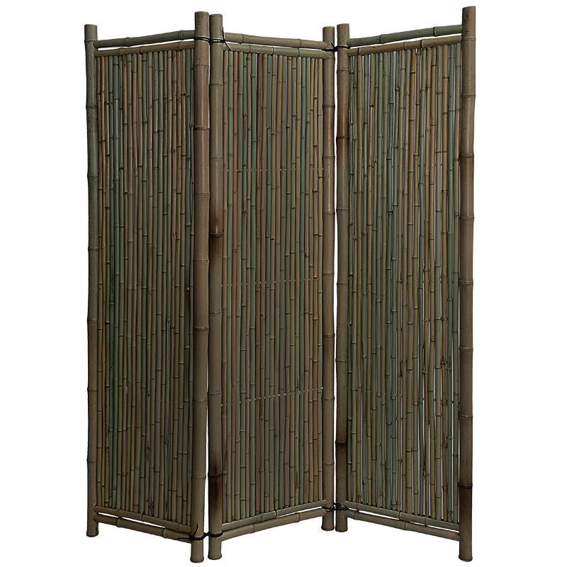 2 wahl bambus paravent black edition - Paravent bambus ...