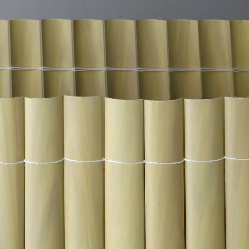 Die Kunststoffmatten in 3 Metern in bambus, grün, braun, weiß