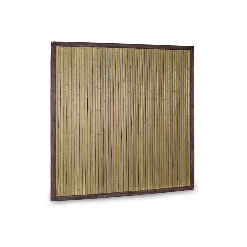 Bambuszaun Bali mit Holzrahmen 180x180 Bambus Zaun