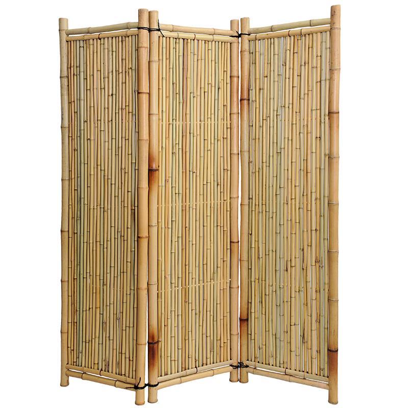 Sehr hochwertiger Bambusparavent 3-teilig