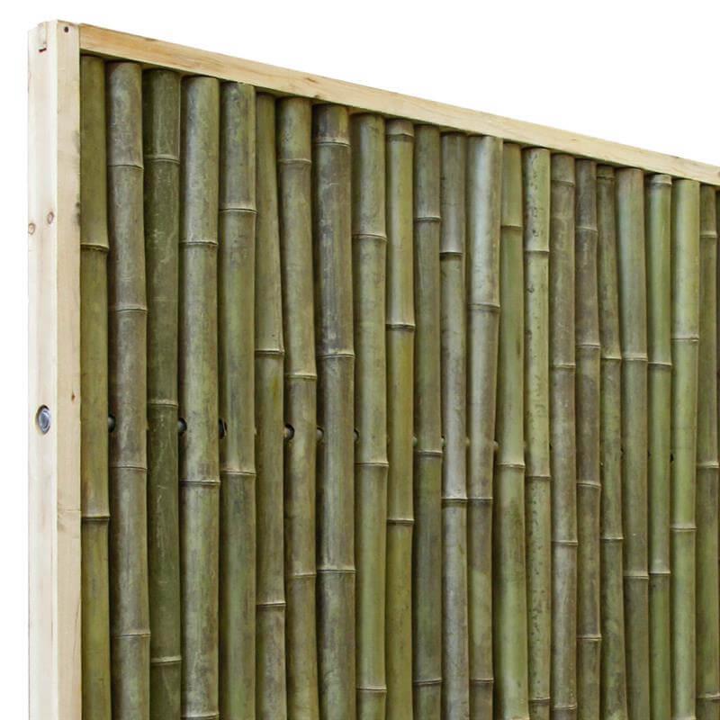 rechteckiger bambuszaun 1 80 1 80 als eleganter sichtschutz. Black Bedroom Furniture Sets. Home Design Ideas