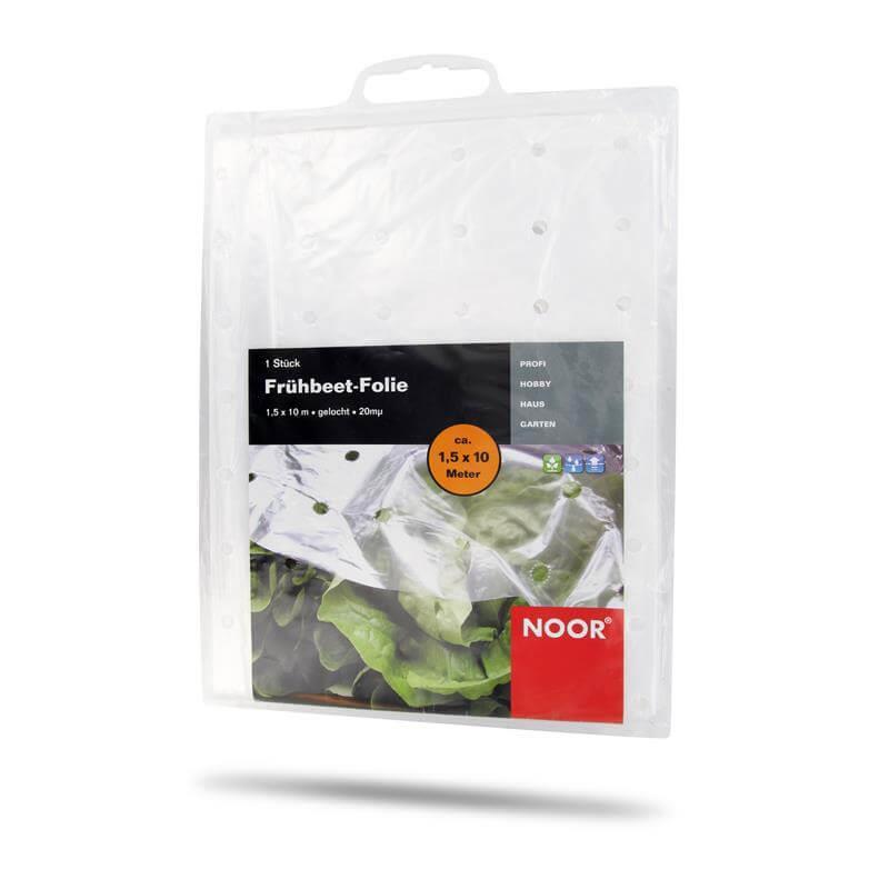 Frühbeetfolie Plastik gelocht für den Gemüseanbau